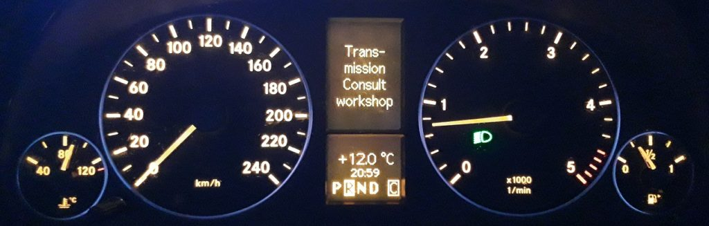 Upozorenje mjenjaca Mercedes A B klasa